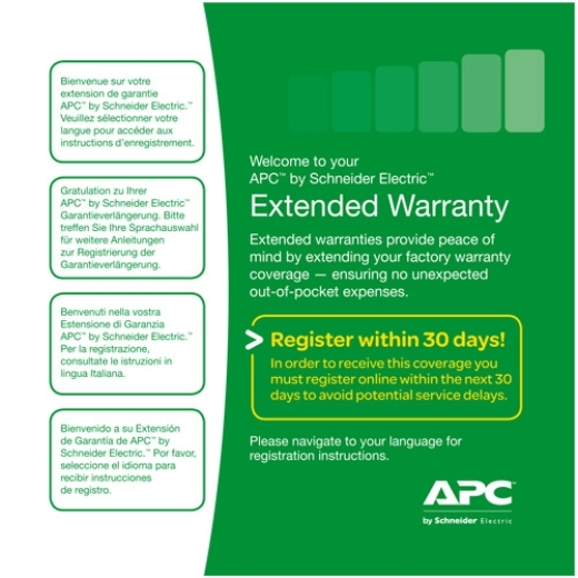 1 Year Extended Warranty, WEXTWAR1YR-SP-01A