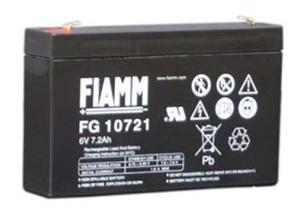 Fiamm olověná baterie FG10721 6V/7,2Ah
