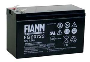 Fiamm olověná baterie FG20722 12V/7,2Ah Faston 6,3