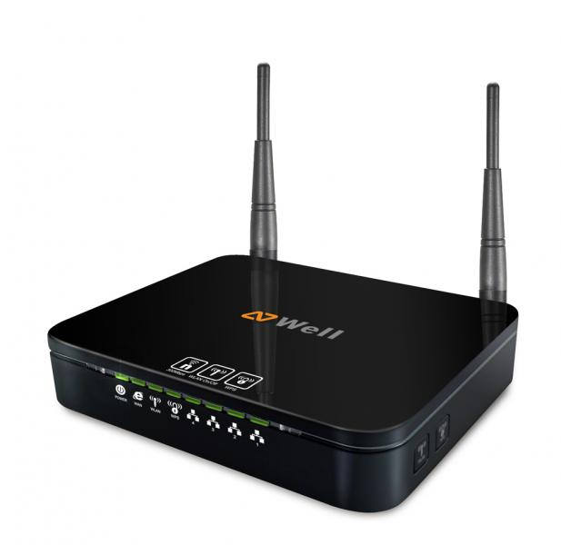 WELL WRC7010N WiFi n Router 300Mb, 2x 3 dBi fixní