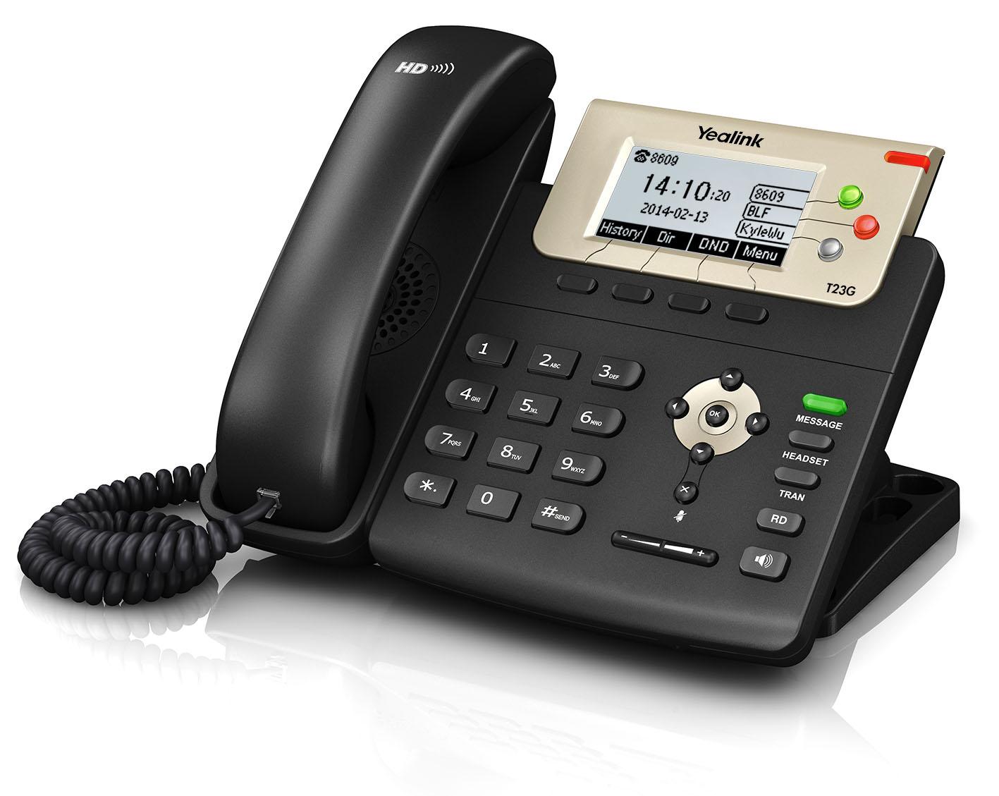 Yealink SIP-T23G PoE,2,8'' 132x64 LCD,3 prog.tl.,GigE - PV230531