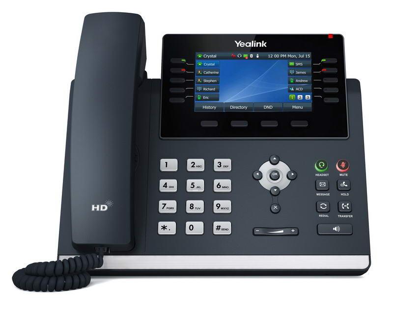 Yealink SIP-T46U SIP telefon, PoE, 4,3'' 480x272 LCD, 27 prog.tl.,2xUSB, Gig - SIP-T46U