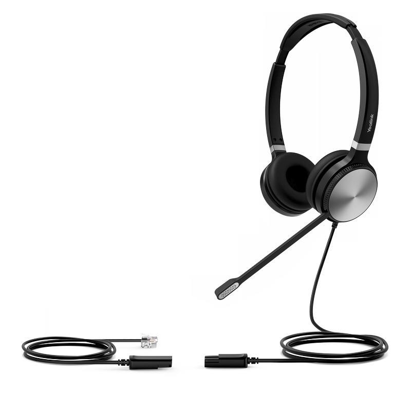 Yealink YHS36 Dual náhlavní souprava na obě uši s QD-RJ9 konektory - YHS36Dual