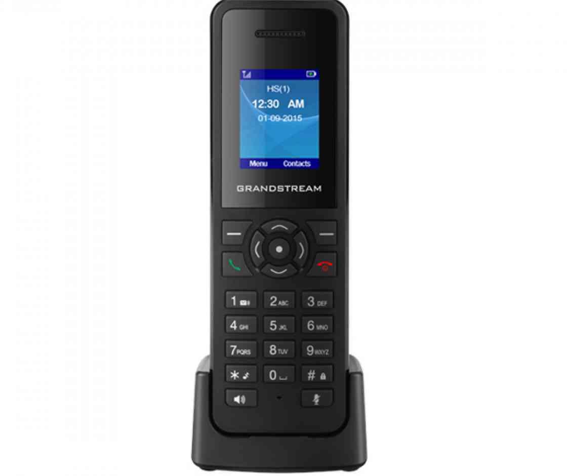 Grandstream DP720, ručka k DP750, 1,8'' LCD bar. displej, 3.5mm jack, Micro-USB, až 3cestná konf. - DP720