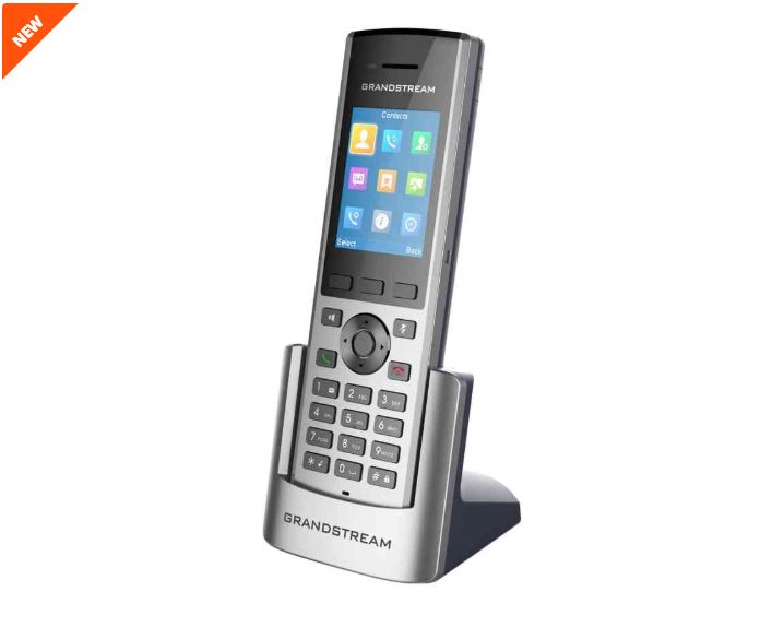 Grandstream DP730 IP tel., 2,4'' bar. displ., 2SIP úč., video, BT, Micro USB, HAC, Push-to-talk - DP730