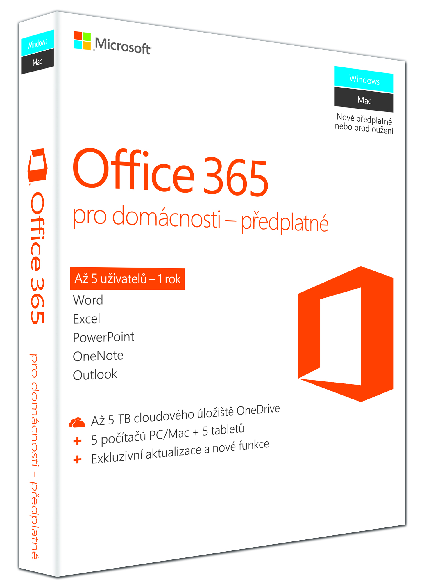 Office 365 Home 32-bit/x64 CZ pronájem, P2