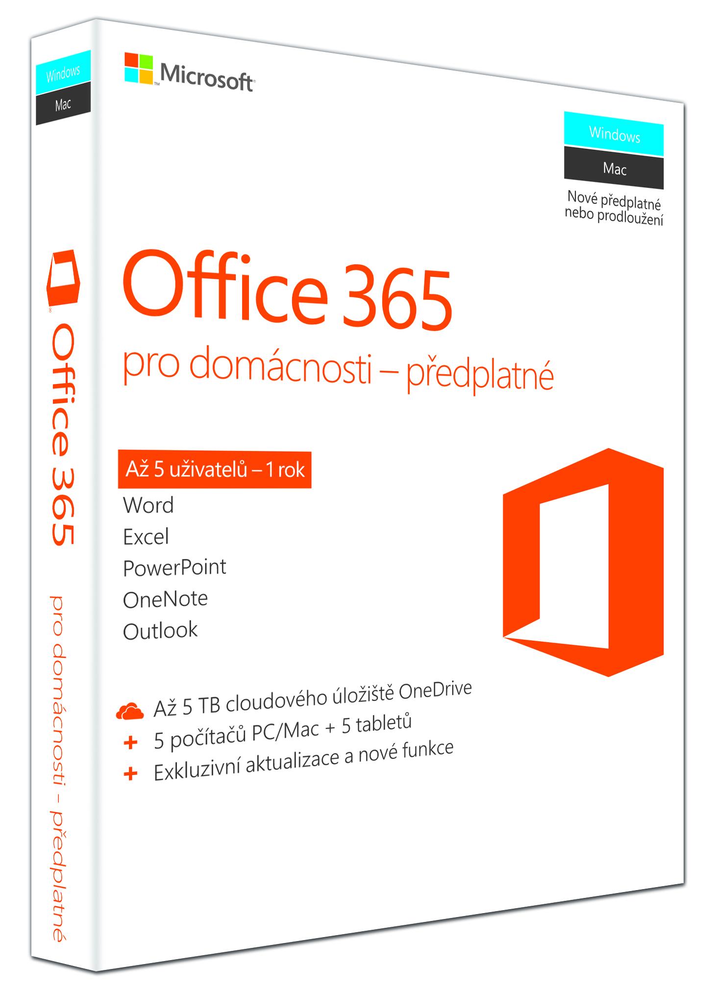 Office 365 Home 32-bit/x64 SK pronájem, P2