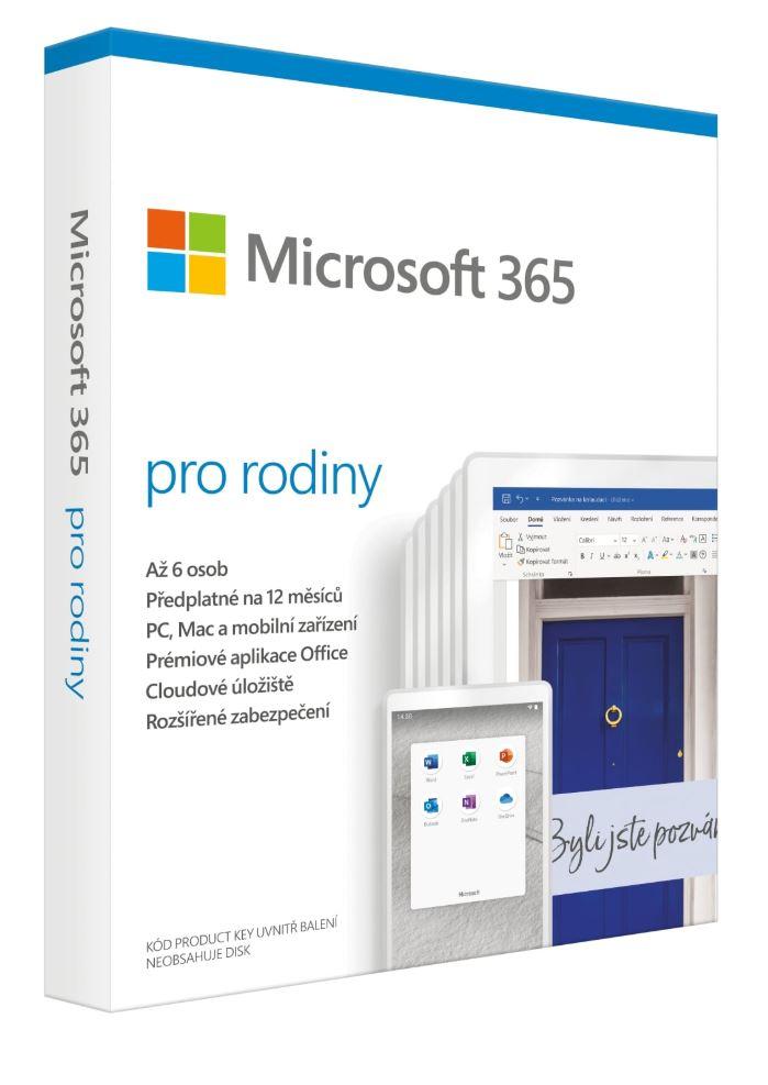 Microsoft 365 Family P6 Mac/Win, 1 Rok, SK - 6GQ-01165