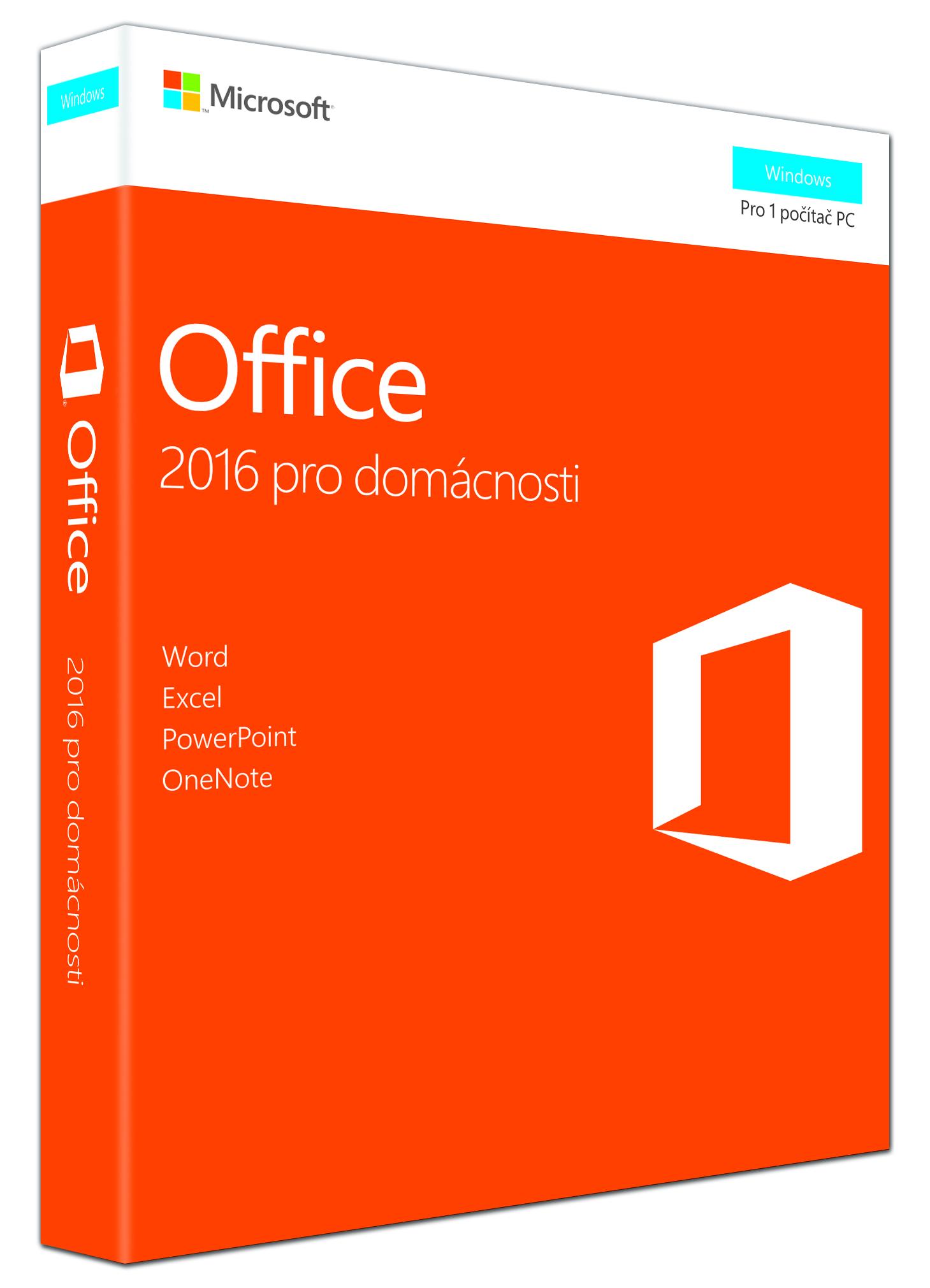 Office 2016 pro domácnosti CZ, P2
