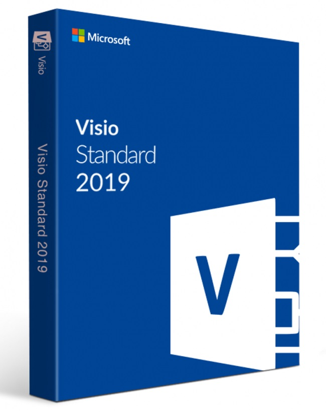 Visio Std 2019 Win Slovak Medialess