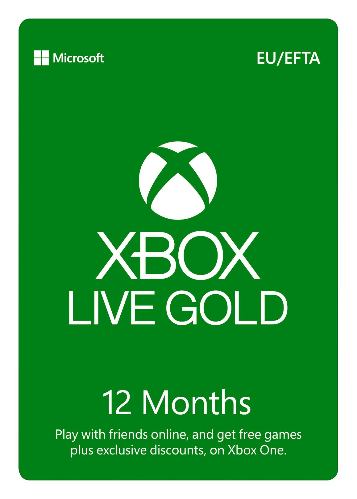 ESD XBOX - Zlaté členství Xbox Live Gold - 12 měsíců (EuroZone) - S4T-00026