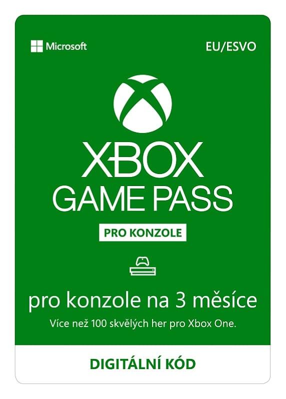 ESD XBOX - Game Pass Console - předplatné na 3 měsíce (EuroZone) - JPU-00086