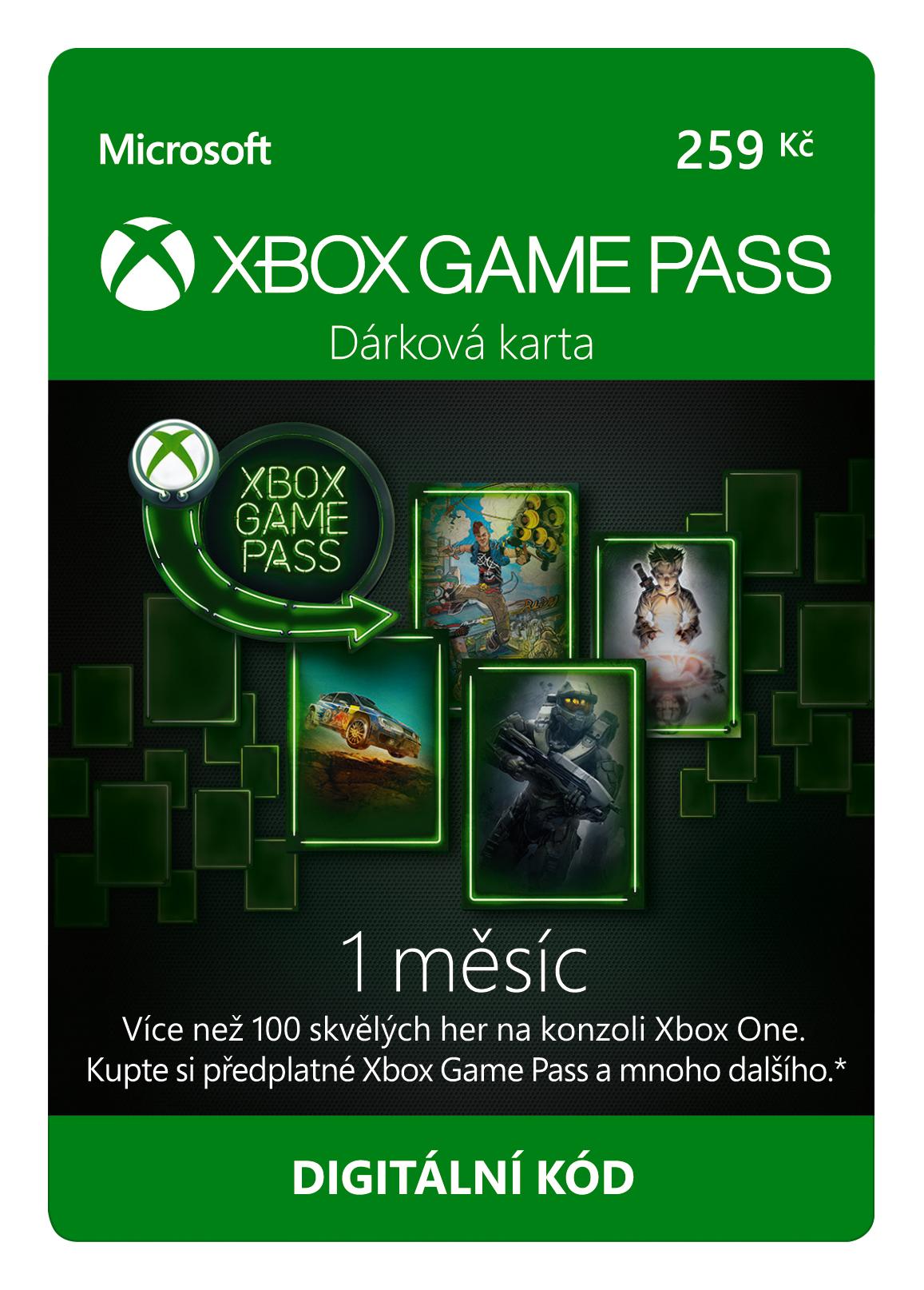ESD XBOX - Game Pass dárková karta 259 Kč (předplatné na 1 měsíc), pro CZK účty! - K4W-03686