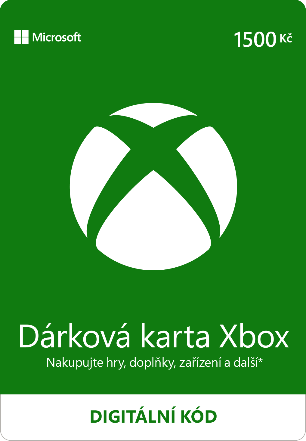 ESD XBOX - Dárková karta Xbox 1500 Kč - K4W-01599