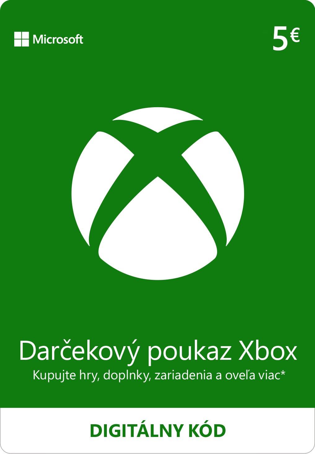 ESD XBOX - Dárková karta Xbox 5 EUR - K4W-02557