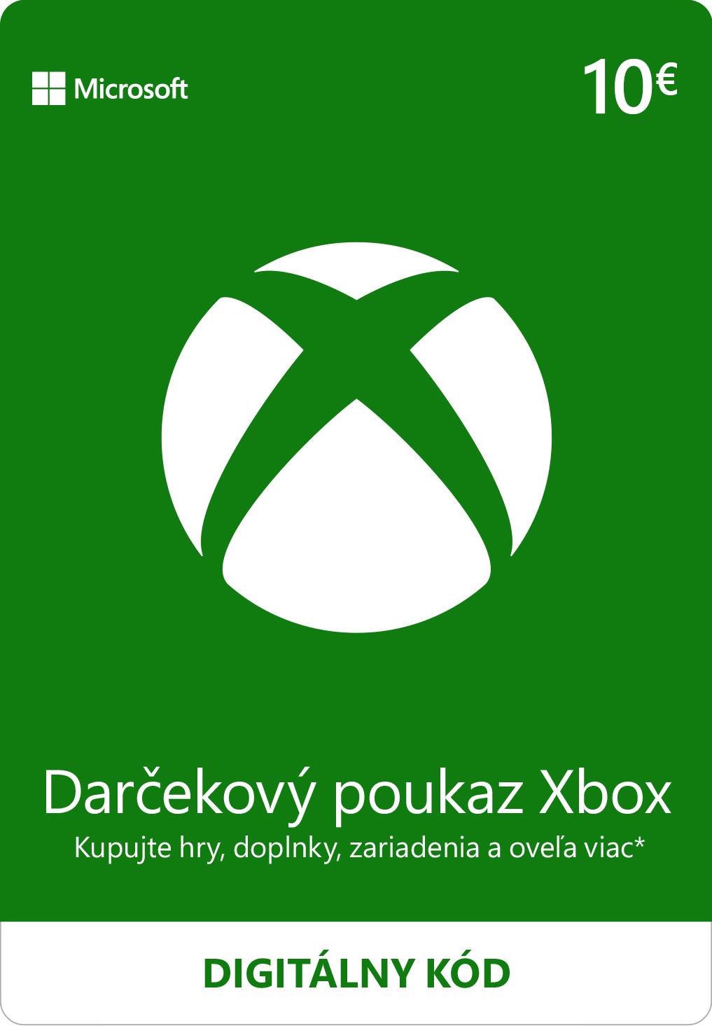 ESD XBOX - Dárková karta Xbox 10 EUR - K4W-02558
