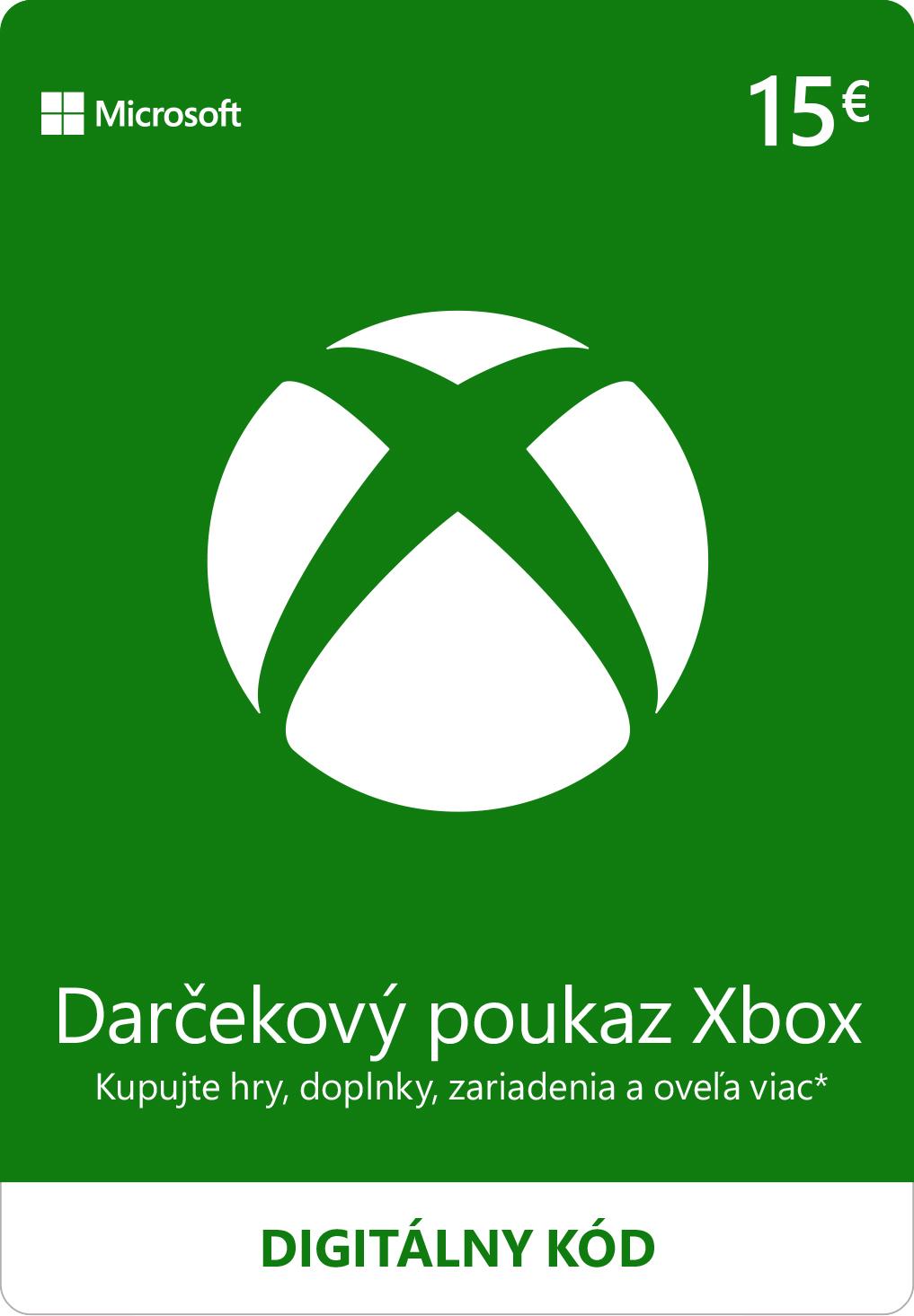 ESD XBOX - Dárková karta Xbox 15 EUR - K4W-02559