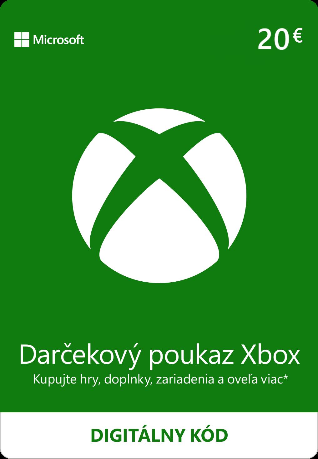 ESD XBOX - Dárková karta Xbox 20 EUR - K4W-02560