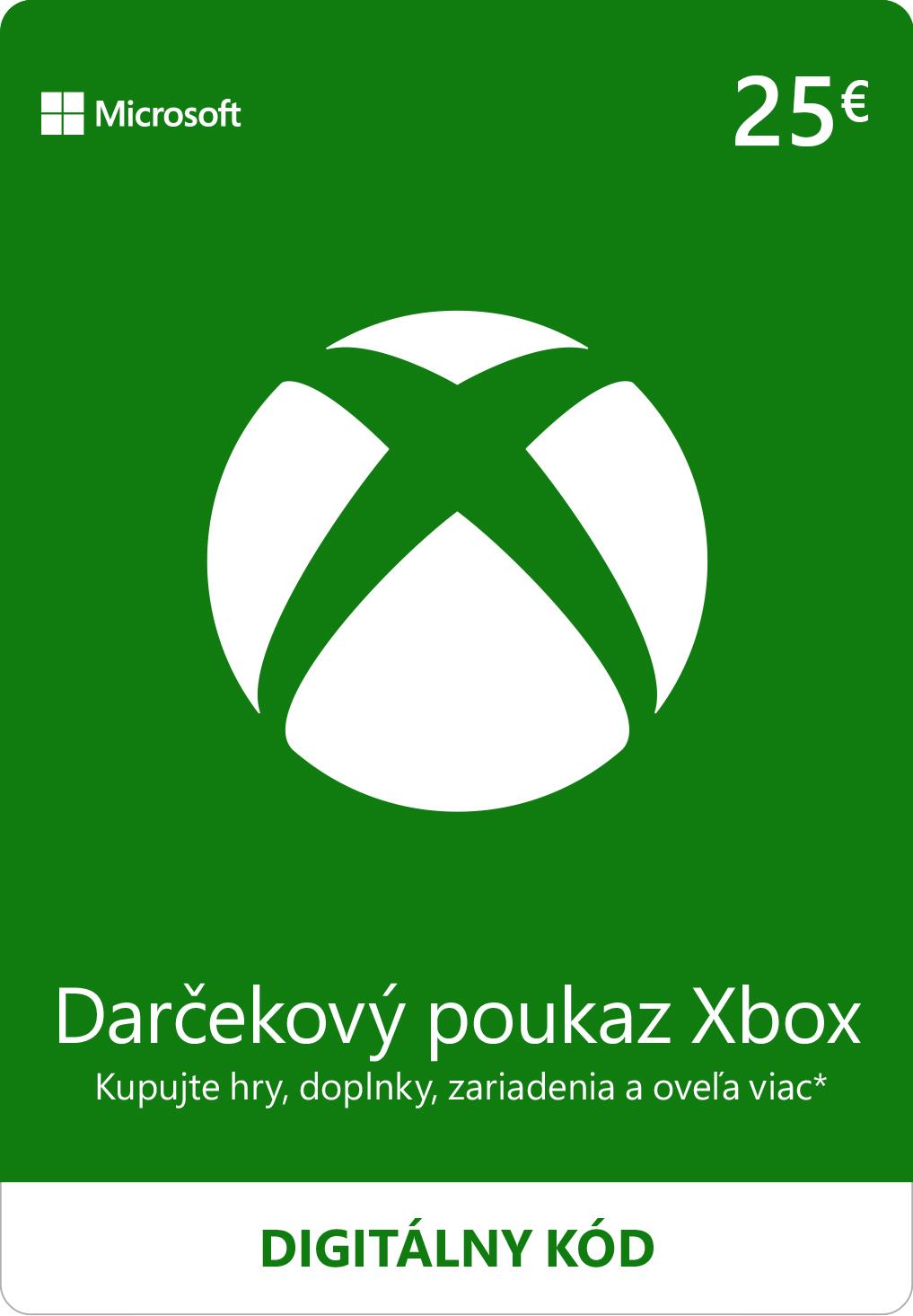 ESD XBOX - Dárková karta Xbox 25 EUR - K4W-02561