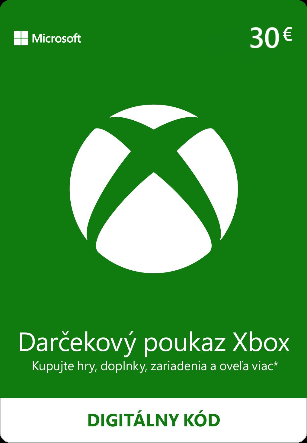 ESD XBOX - Dárková karta Xbox 30 EUR - K4W-02562