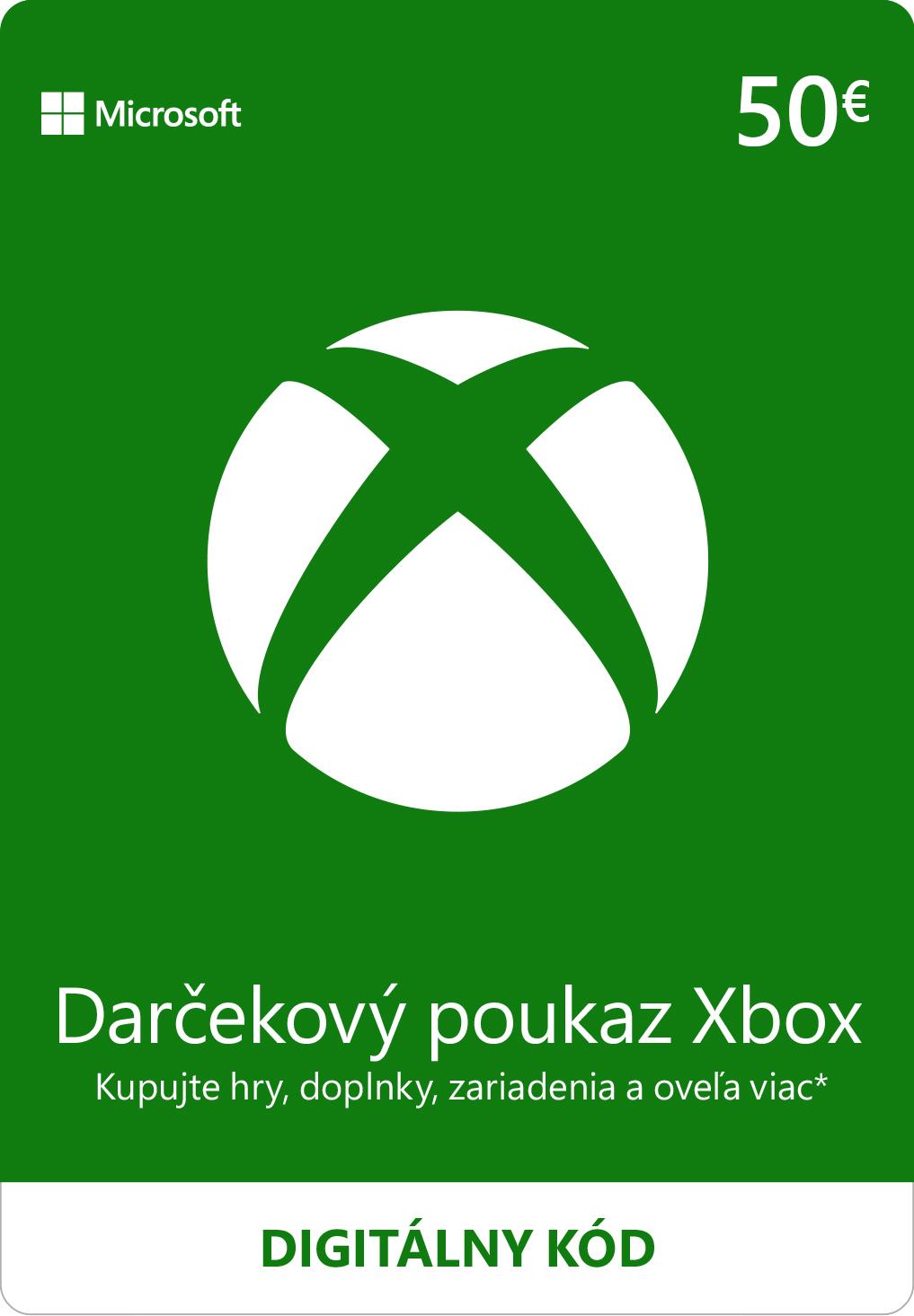 ESD XBOX - Dárková karta Xbox 50 EUR - K4W-02563