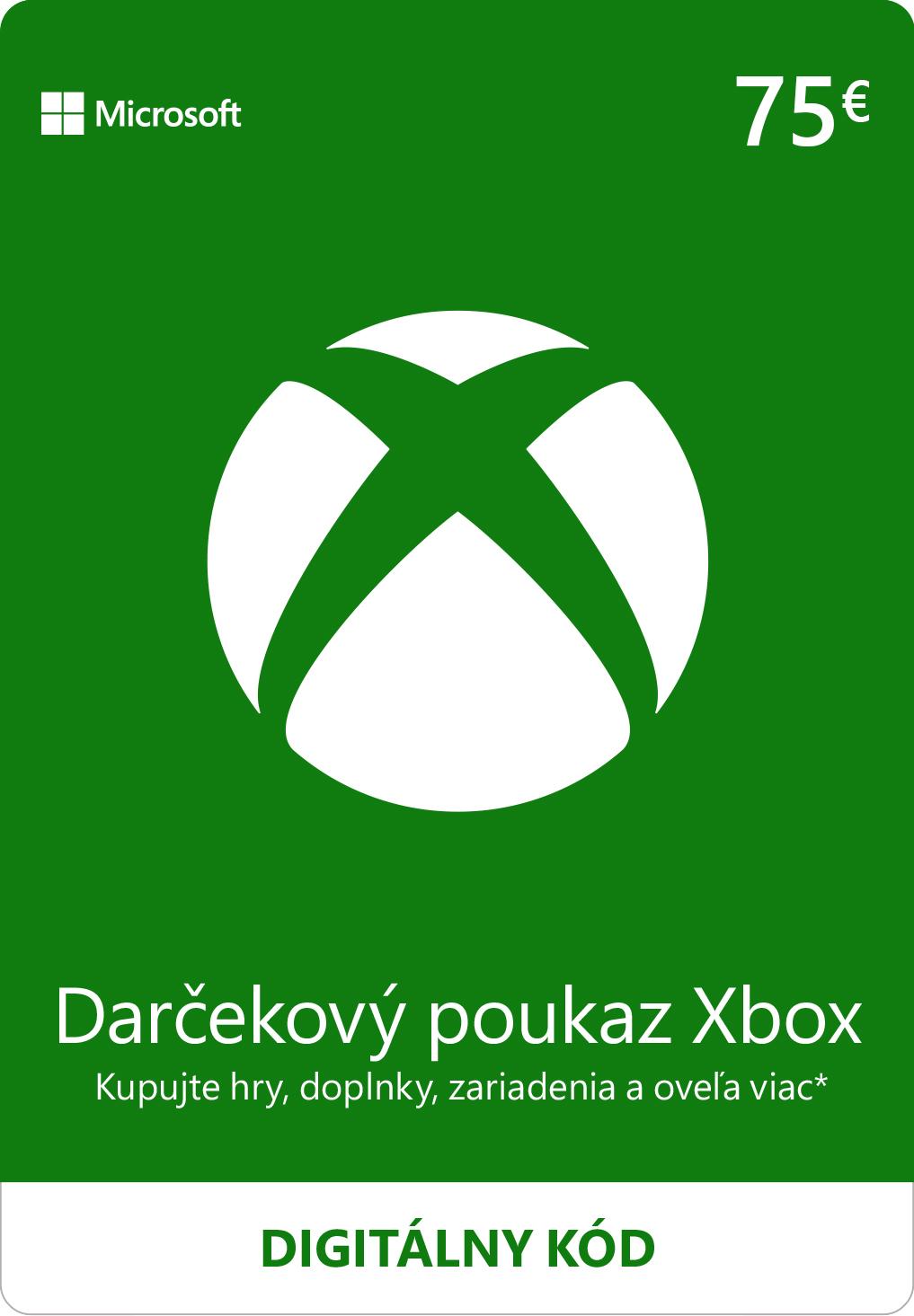 ESD XBOX - Dárková karta Xbox 75 EUR - K4W-02564