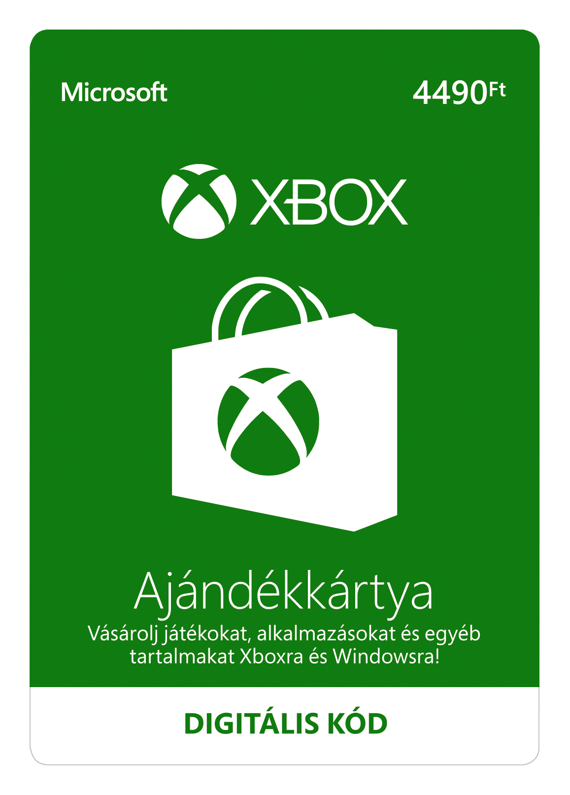 ESD XBOX - Dárková karta Xbox 4490 HUF - K4W-03494
