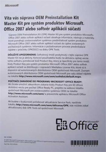 MS Master Kit OneNote 2007 CZ OEM