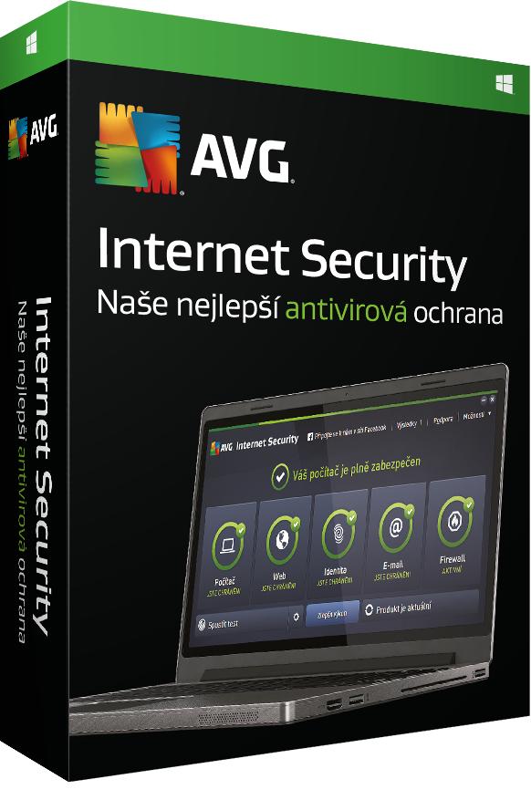 Prodl. AVG Internet Security 2016, 8 lic.(36 měs.)