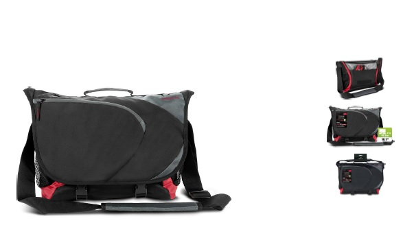 ASCOPA messenger bag, black-red