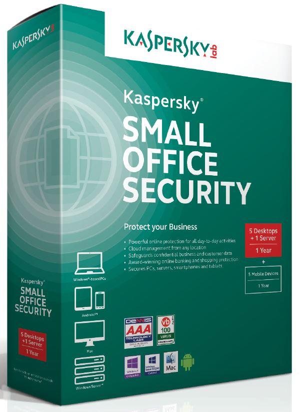 Kaspersky Small Office 4/10-14 nods/1 year /Prodl.