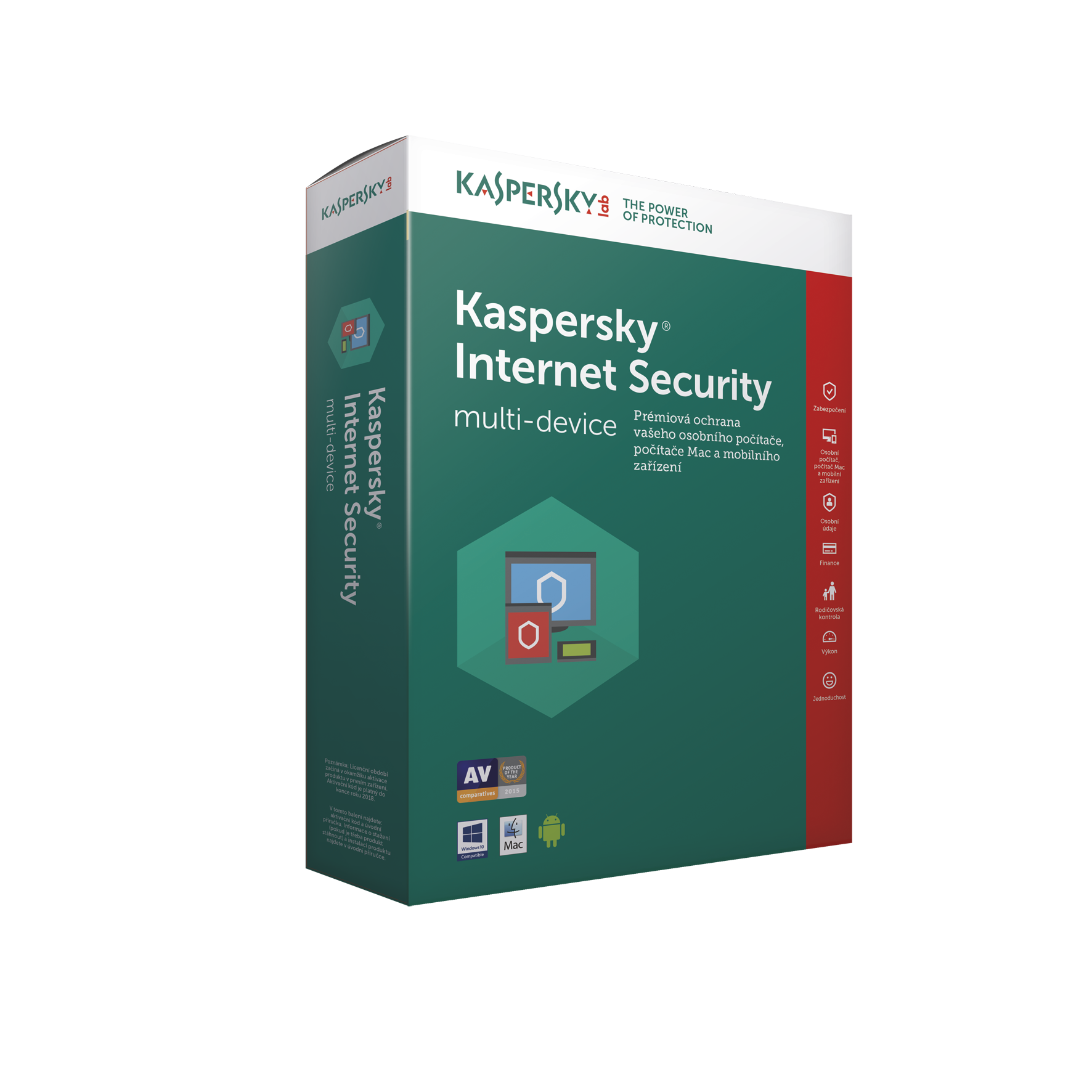 Kaspersky Internet Security 2018, 4x, 1 rok,obnova