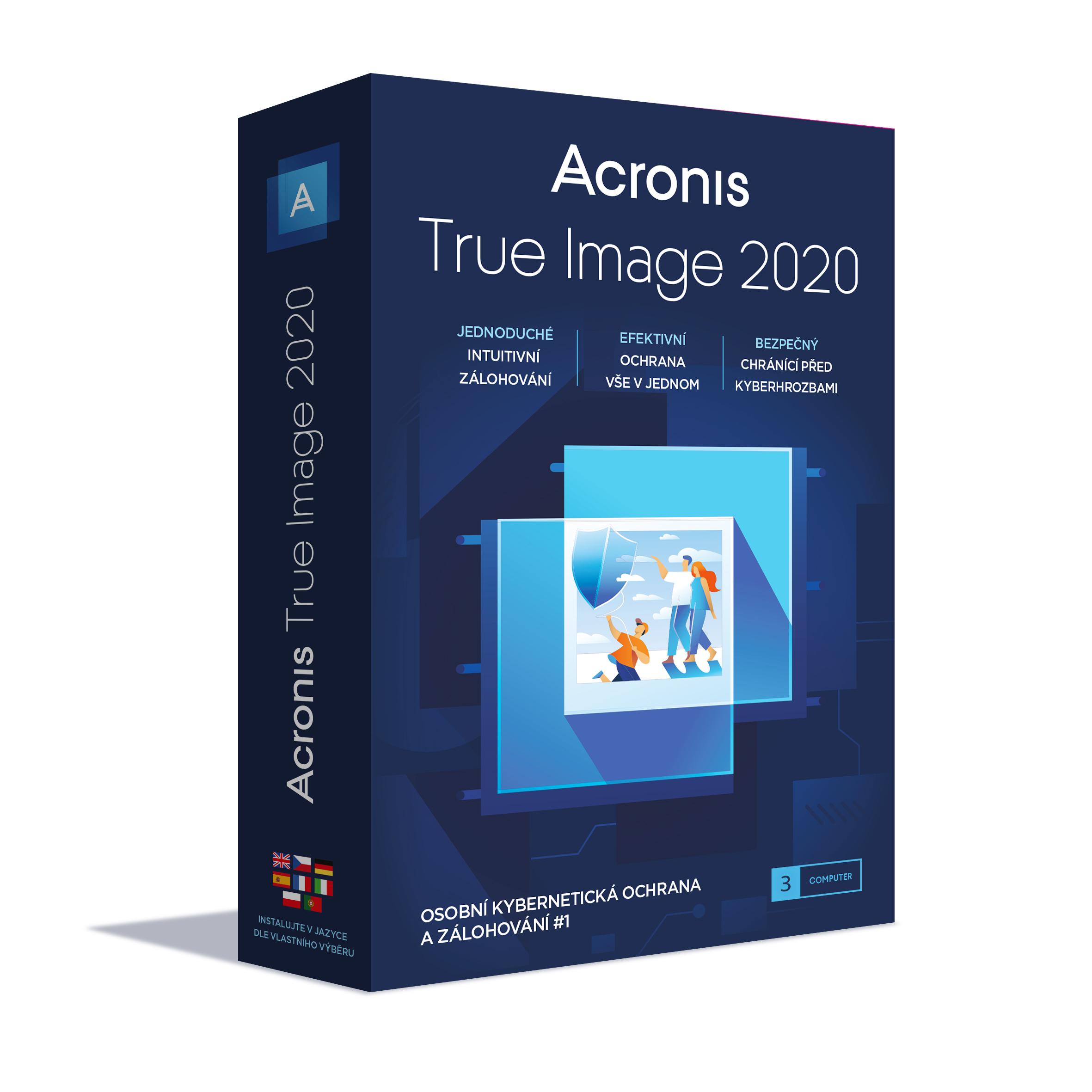 Acronis True Image 2020 - 3 Computers - BOX