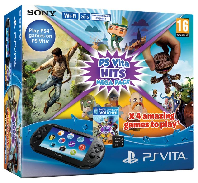 PS Vita - Mega Hits pack s 8GB pam. kartou