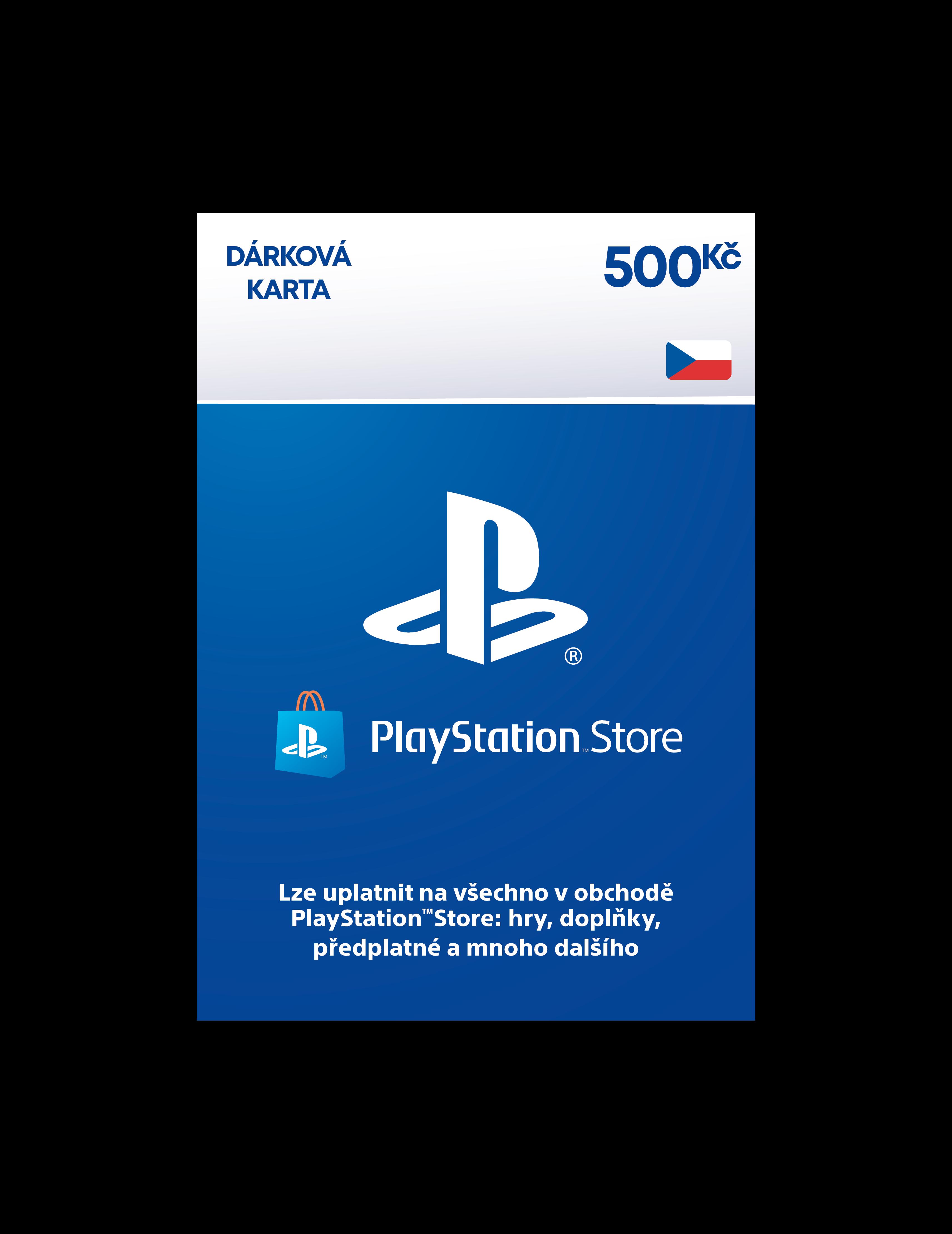 PlayStation Live Cards Hang 500Kč - pouze pro CZ PS Store - PS719894339