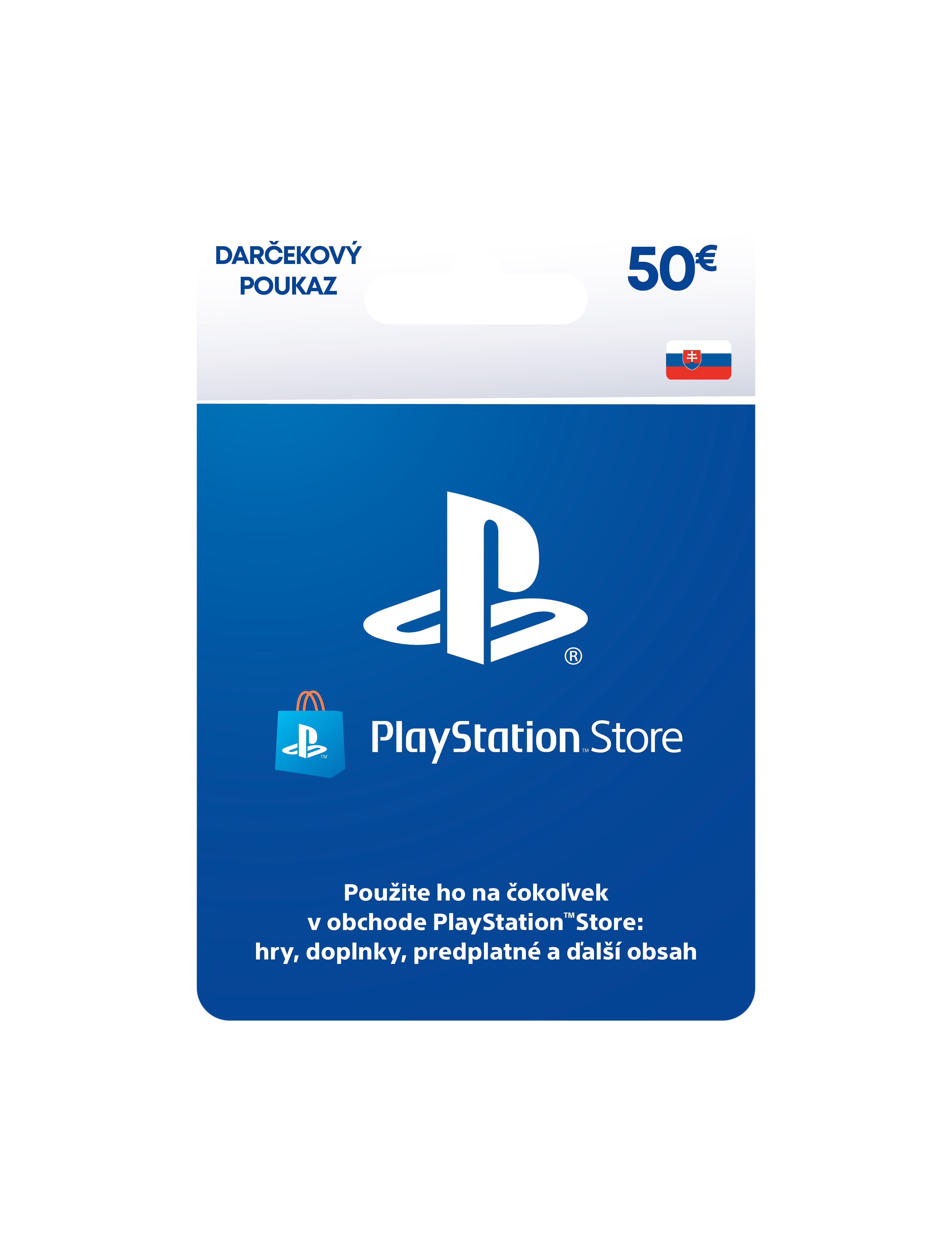 PlayStation Live Cards 50 EUR Hang pro SK PS Store - PS719800057