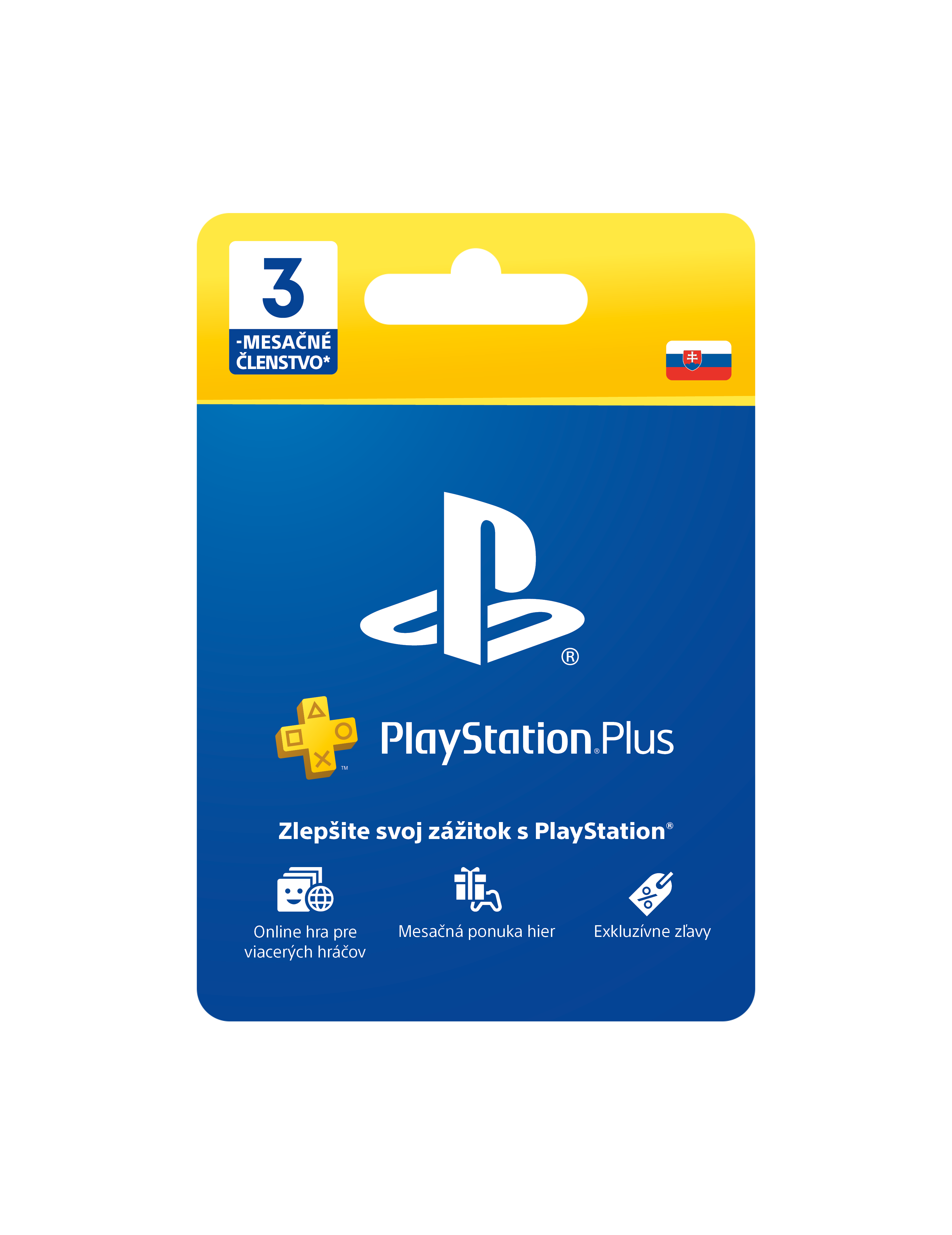PlayStation Plus Card Hang 90 Days pro SK PS Store - PS719801054