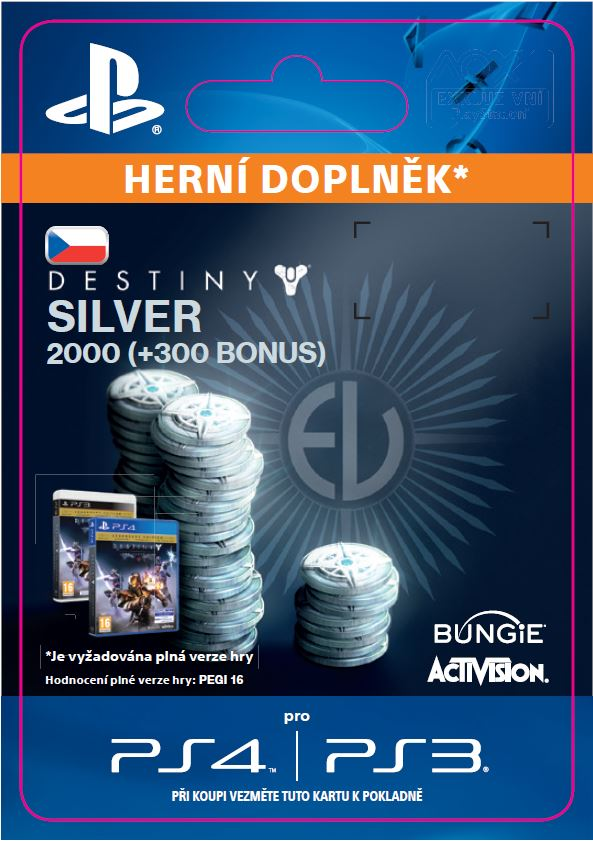 ESD CZ PS4 - 1000 (+100 Bonus) Destiny Silver - SCEE-XX-S0022466
