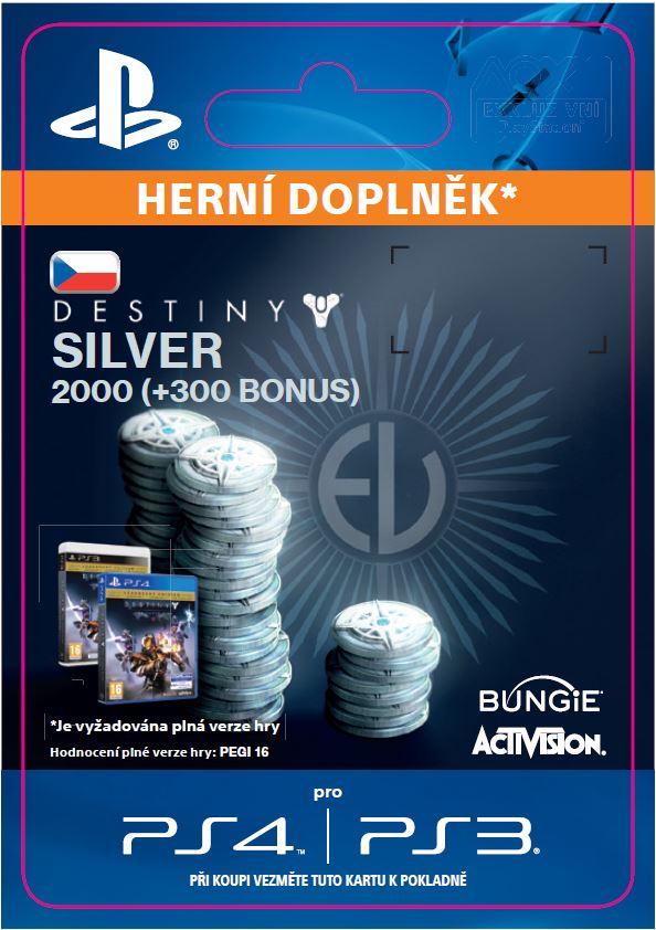 ESD CZ PS4 - 2000 (+300 Bonus) Destiny Silver - SCEE-XX-S0022416
