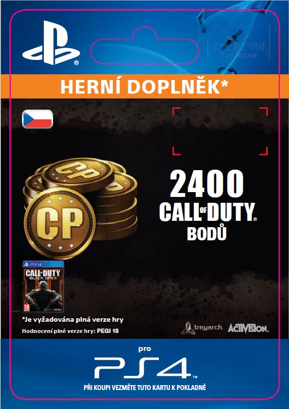ESD CZ PS4 - 2,000 (+400 Bonus) Call of Duty Point - SCEE-XX-S0022967