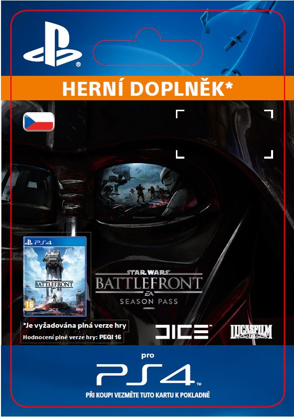 ESD CZ PS4 - STAR WARS Battlefront Season Pass - SCEE-XX-S0022224