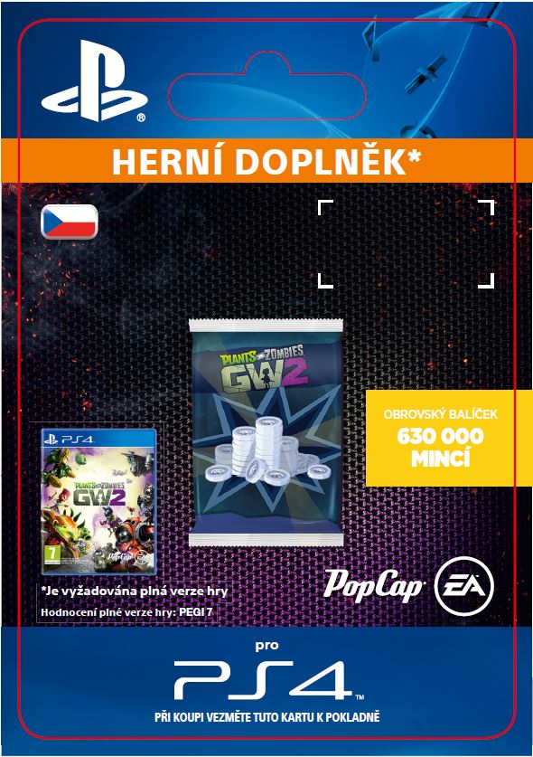 ESD CZ PS4 - Plants vs. Zombies Garden Warfare 2: 630,000 Epic Coins Pack - SCEE-XX-S0024179