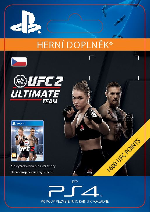ESD CZ PS4 - EA SPORTS UFC® 2 - 1600 UFC POINTS - SCEE-XX-S0024276