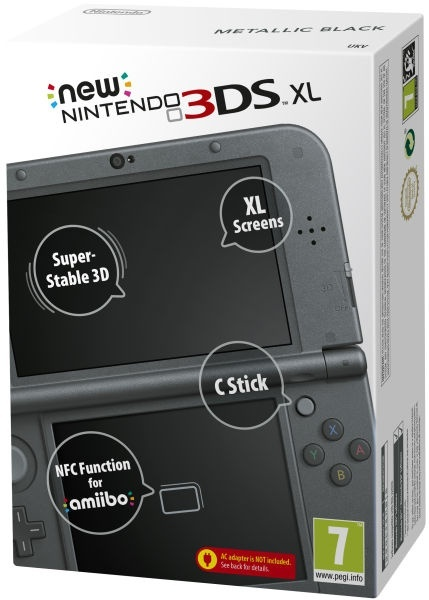 3DS - New Nintendo 3DS XL Metallic Black