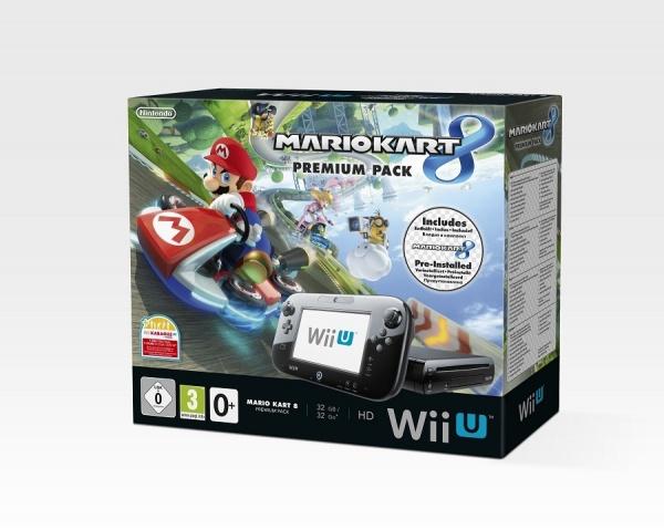 WiiU - Nintendo Premium Pack Black + Mario Kart 8