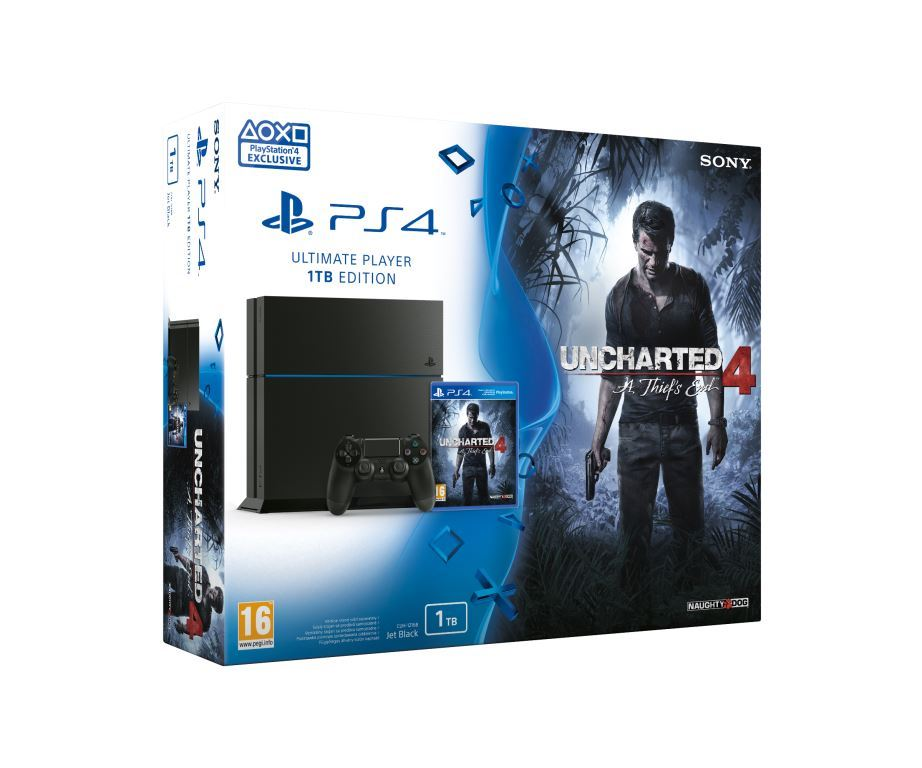 PS4 - Playstation 4 1TB + Uncharted 4: Thiefs End