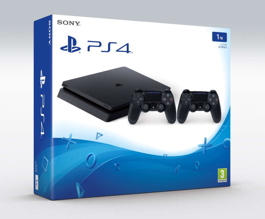 PS4 - Playstation 4 1TB Slim - 2x DS4