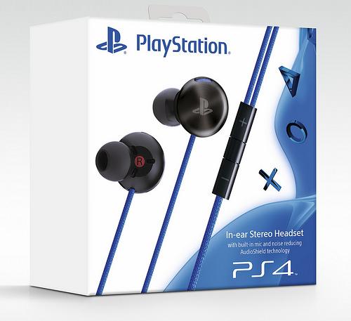 PS4 - In-ear Stereo Headset - sluchátka do uší s funkcí potlačení okolního hluku