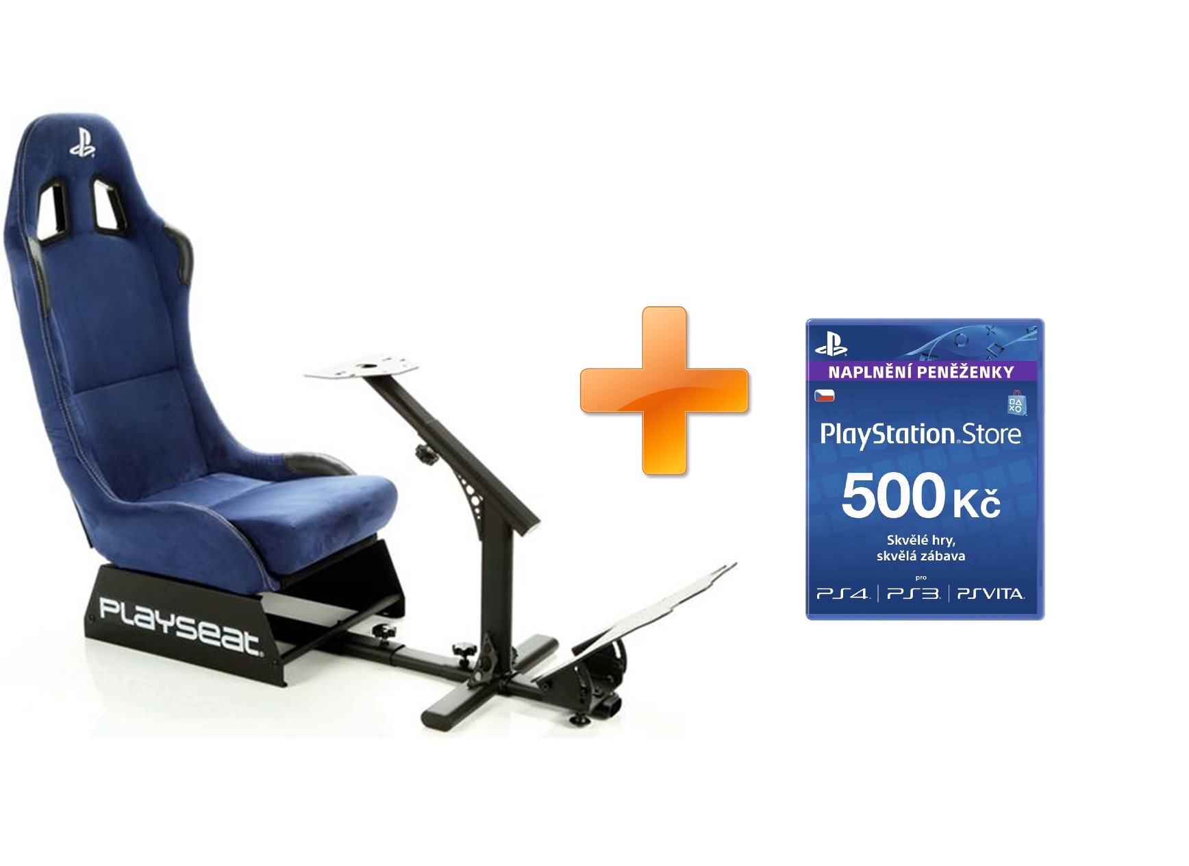 Playseat® PlayStation Edition + PlayStation Live Cards 500Kč Hang pro CZ PS Store ZDARMA