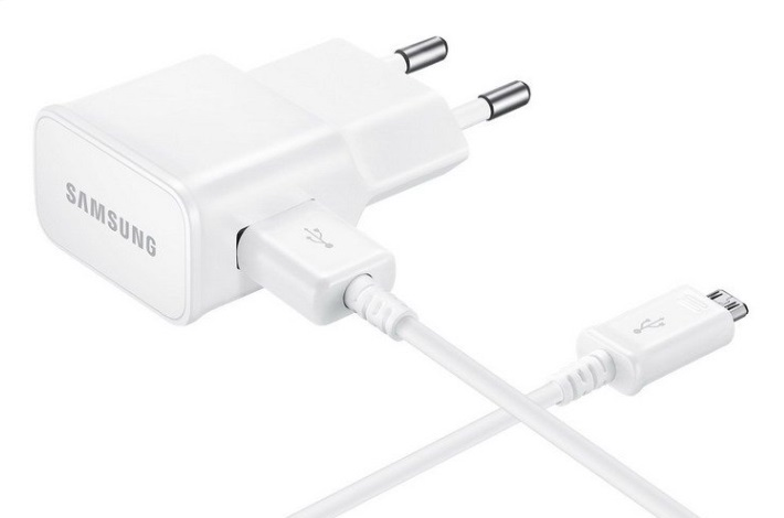 Samsung nabíječka EP-TA20E, micro USB, bílá